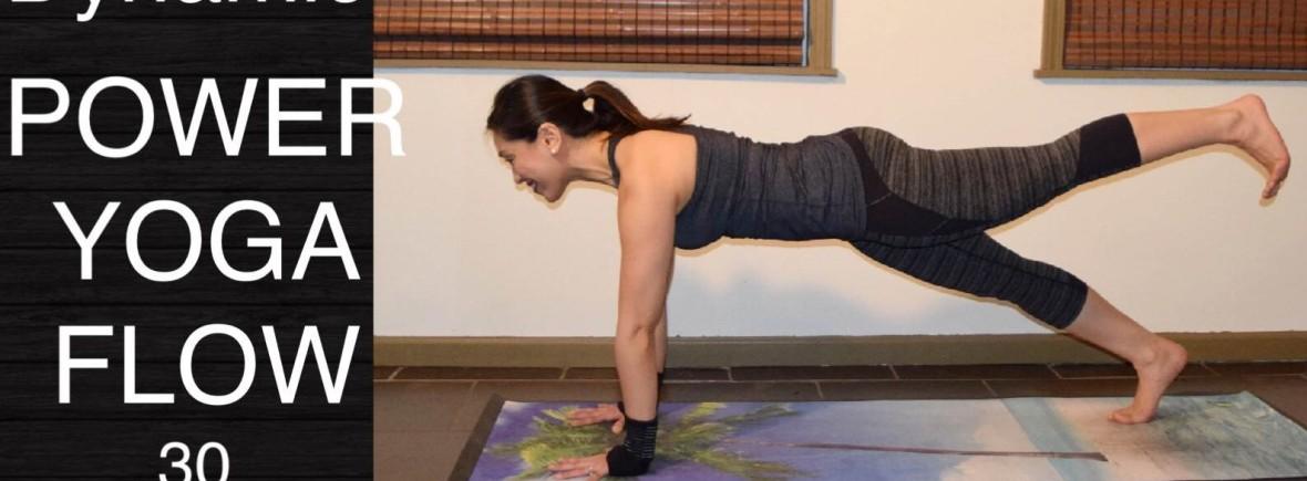 Dynamic Power Vinyasa Flow Yoga Workout For Total Body Strength 30 Minutes Yoga Upload With Maris Aylward