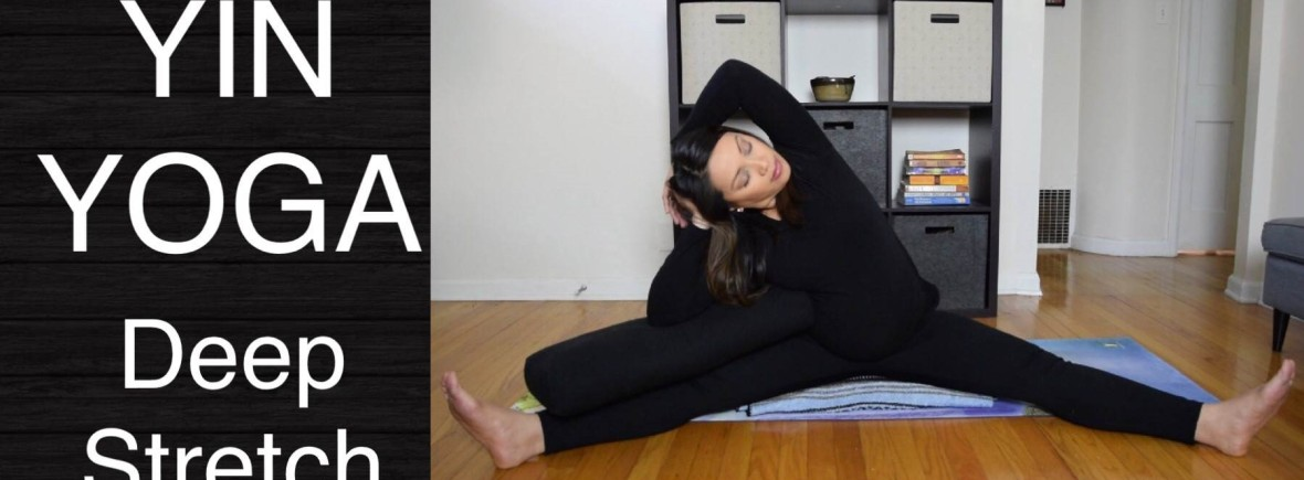 Yin Yoga Deep Stretch For Beginners And Prenatal 45 Minutes